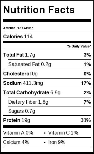 Savory Seitan Roast Nutrition Information