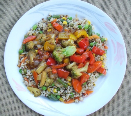 Stir-Fry Sauce over Vegetables