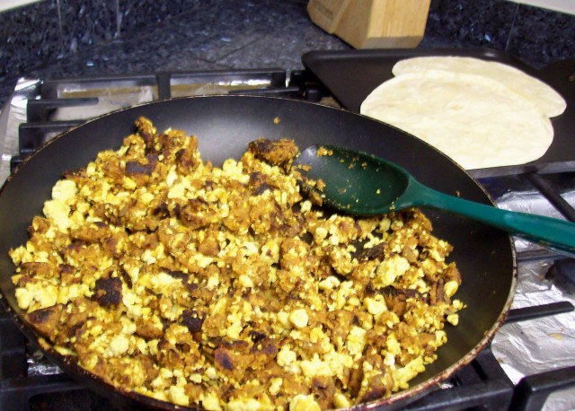 Cooking Vegan Huevos con Chorizo