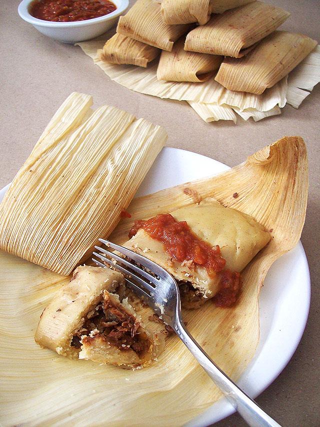 """Beefy"" Vegan Tamales"