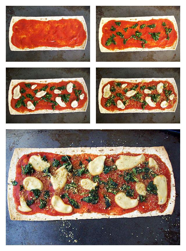 Spinach Ricotta Flatbread Pizza