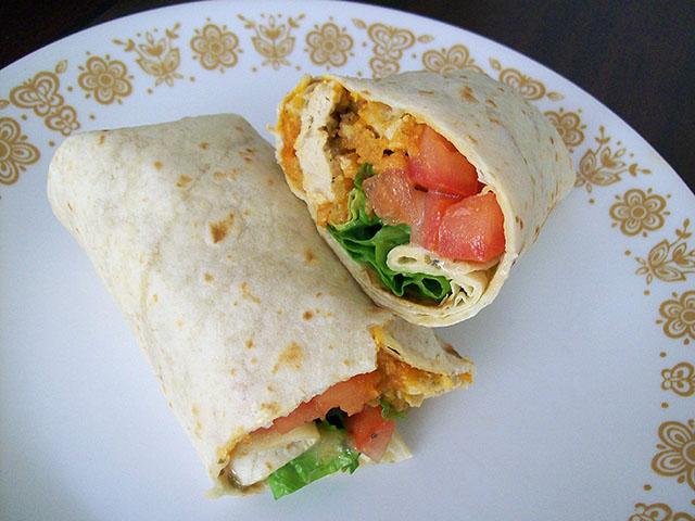 Vegan Buffalo Chicken Wraps - VeganPetite.com