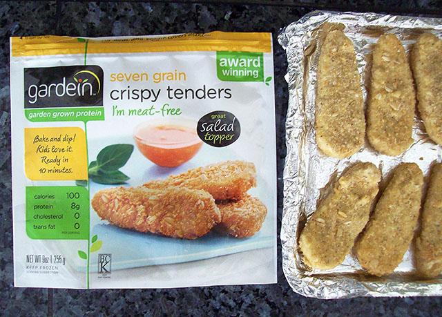Vegan Buffalo Chicken Wraps, Gardein tenders - VeganPetite.com