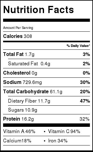 Easy Minestrone Soup nutrition information - VeganPetite.com
