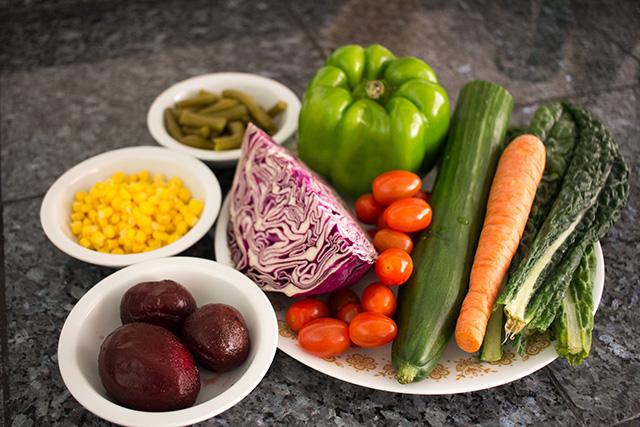 Rainbow Salad - Oil-free vegan salad recipe