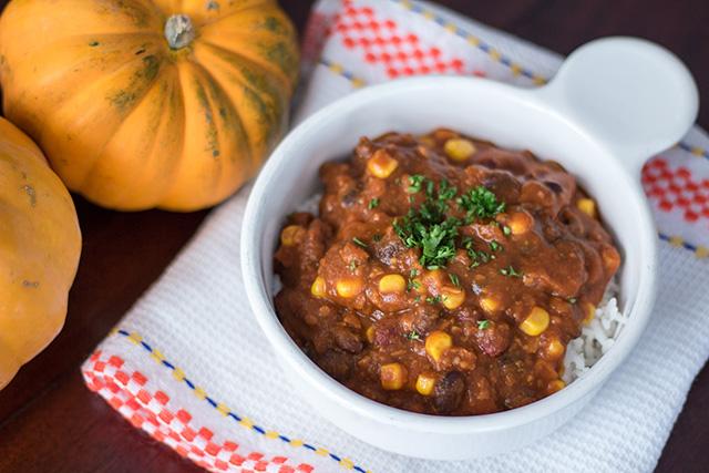 Vegan Pumpkin Chili with Soyrizo recipe