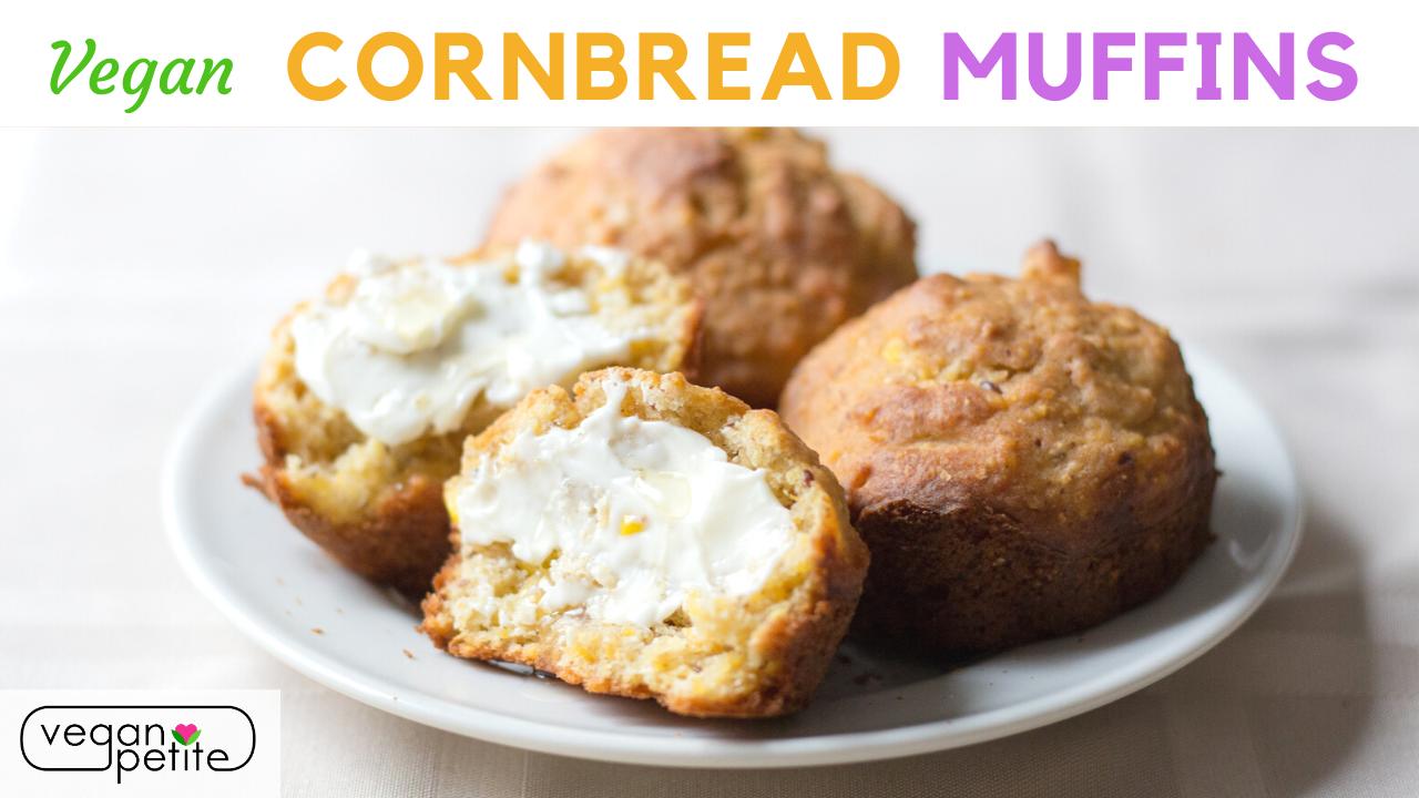 Vegan cornbread muffins - easy vegan cornbread recipe