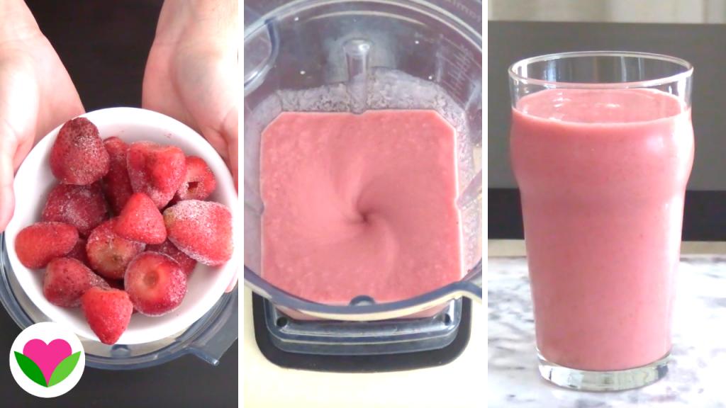 vegan strawberry milkshake